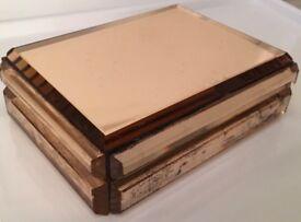 Art Deco Glass Box