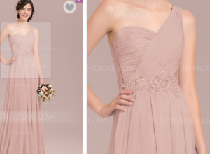 Sz6- DUSTY ROSE- BRIDESMAID/PROM DRESS FOR SALE-NEVER WORN