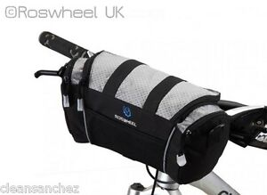 QUALITY-COMPACT-BIKE-HANDLEBAR-BAG-carry-strap-phone-pocket-Velcro-bar-ROSWHEEL