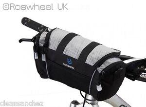 QUALITY-COMPACT-BIKE-HANDLEBAR-BAG-carry-strap-phone-pocket-Velcro-bar-ROSWHEEL