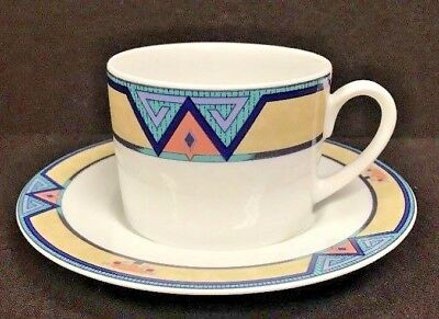 (CHRISTOPHER STUART MONTERO Y0232 CUP&SAUCER, OVEN-MICROWAVE- DISHWASHER SAFE NEW)
