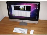 "MINT CONIDTION Apple iMac Core i7 2.8Ghz 27"" Quad Core 8GB, 128GB SSD, ATI - Faulty but working"