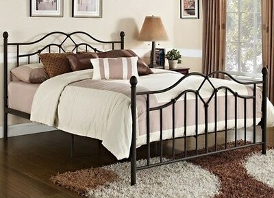 - Full Size Bronze Metal Poster Bed Headboard Footboard Beds Bedroom Furniture NEW