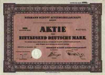 Hermann Schött Rheydt 1959 Druckerei Bier Wein Zigarren 1000 DM Stollwerck