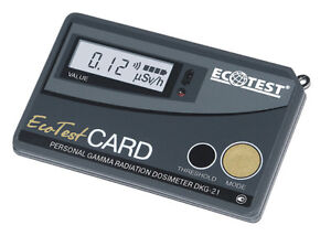 Ecotest CARD (Personal gamma radiation dosimeter DKG-21) Made by Ecotest
