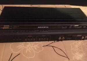 320 watt  4-channel car amplifier. Only used 1 summer