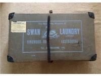 Vintage original Swan laundry box. Storage suitcase