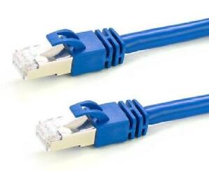 10 ft. Blue Cat7 600MHz Screened Shielded Twisted Pair (S/STP) Network Cable with Metal Connectors