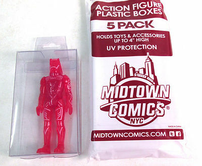 Midtown Comics Clear Plastic Action Figure Display Boxes 4 - 5 Pack New