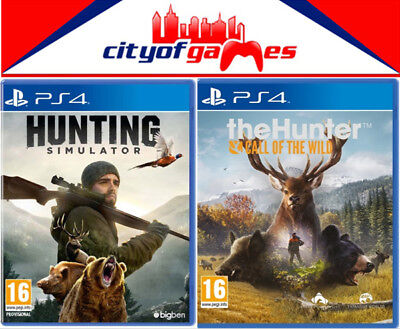 The Hunter Call of the Wild & Hunting Simulator PS4 Bundle New & Sealed In