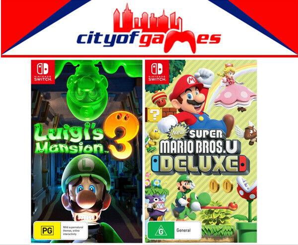 Luigi S Mansion 3 New Super Mario Bros U Deluxe Bundle Nintendo Switch New Ebay