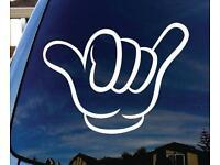Laptop # 1182 Hang Loose Hand Hawaii Island Decal Sticker for Car Window