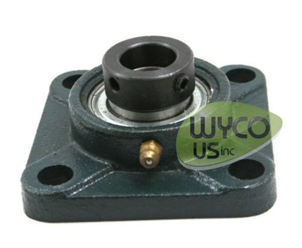 """FOUR BOLT FLANGE ASSEMBLY F205 W/ 205-16 BEARING, 1"""" AXLE, NEW, ALWAYS IN STOCK"""