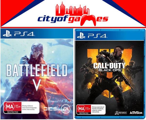 Battlefield 5 V Call Of Duty Black Ops 4 Ps4 Game Bundle Ebay