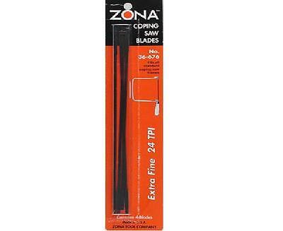 Zona tools  Coping Saw Blades 24tpi 4pk  ZNA36676-NEW