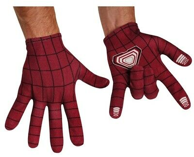 Spider-Man Gloves Dark Red Men's Wrist Length Poly Screen Print Costume Gloves
