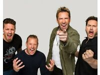 Nickelback / Nickel back @ o2 arena (6 x Standing) will negotiate (11 May 2018 @ 6.30pm)