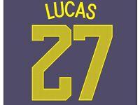 Winks #29 Tottenham Hotspur 2017-2018 Camo Third Cup Football Nameset 4 shirt