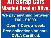 WE BUY CARS VANS 4X4S SCRAP MOT FAILURES VEHICLE WANTED WE ALSO BUY SPARES or REPAIRS