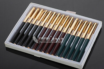 Vintage HERO 612 Fountain Pens Golden Cap Hooded Nib - Black Green Red LOT OF 15