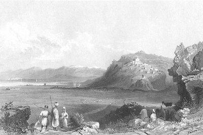 Lebanon Sarepta Zarephath Mediterranean Sidon Tyre   1837 Art Print Engraving