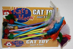 Cat Toys Catnip feather dart Cat  toy 30 per box Made in Canada Kitchener / Waterloo Kitchener Area image 1