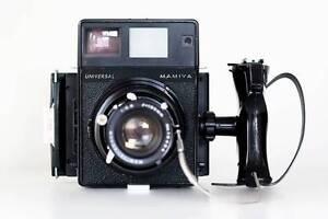 WORKING Mamiya Universal Press Polaroid Back Camera w/ 150mm lens Gold Coast Region Preview
