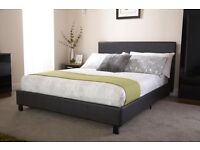 KING SIZE FAUX LEATHER BED (£119 INCL DELIVERY) ALSO AVAILABLE IN SINGLE & DOUBLE