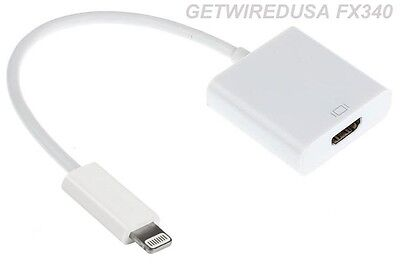 APPLE Lightning Digital AV Plug to HDMI Adapter iPhone 5 6 7 iPad Air MD826AM/A
