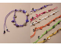 Coloured shell chip corded friendship bracelet - JTY103