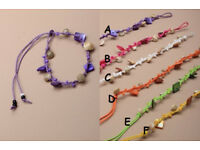 Coloured shell chip corded friendship bracelet. - JTY103