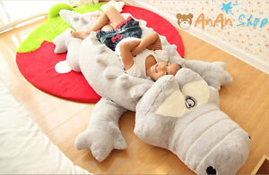 Big Animal Floor Pillows : GIANT-2M-BIG-PLUSH-CROCODILE-CUTE-STUFFED-ANIMAL-SOFT-TOY-HUGE-CUSHION-PILLOW