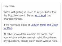 2 VIP tickets for boyzlife