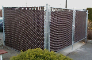 30 ft of Brown Privacy slats - Chain Link Fence