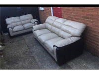 2 and 3 seater leather sofas good condition can deliver