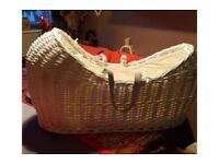 for sale Claire de Lune Moses basket wooden light brown