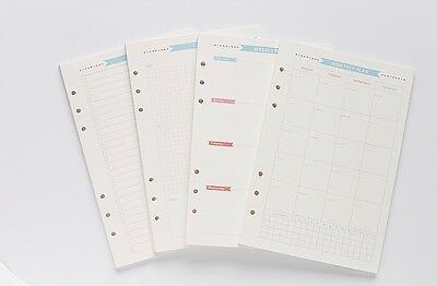 40 A6 Personal Planner Inserts Refills Monthly Weekly Todo Activity Log Calendar