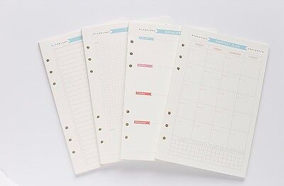 40 A6 Personal Planner Insert Refills Monthly Weekly To Do Activity Log Calendar