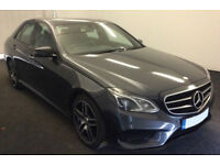 GREY MERCEDES-BENZ E200 E220 CDI AMG LINE NIGHT PREMIUM SE FROM £98 PER WEEK!