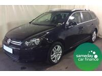 £160.19 PER MONTH BLACK 2011 VOLKSWAGEN GOLF 1.6 BMT SE ESTATE DIESEL AUTO