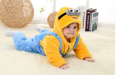 Minion Cartoon Infant Baby Jumpsuit Costume Romper Winter Sets Outfit Christmas](Minion Outfits)