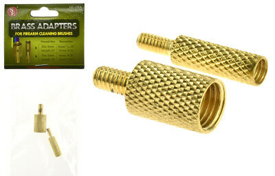 2 Pc Brass Cleaning Rod Adapter For Firearm Gun Cleaning Brushes Accessories