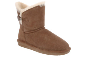 Bearpaw boots, genuine sheepskin, suede, size 8