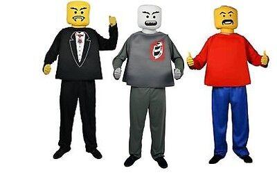 NWT ADULT LEGO MAN R BLOCKHEAD HALLOWEEN MORPH COSTUME - VAMPIRE ZOMBIE