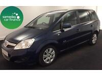 ONLY £169.38 PER MONTH BLUE 2011 VAUXHALL ZAFIRA 1.7 ECOFLEX ELITE 7 SEATER