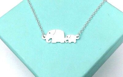 - Baby and Mom Elephant Charm Necklace Gift Jewelry