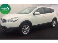 £266.77 PER MONTH WHITE 2013 NISSAN QASHQAI +2 1.6 ACENTA 5 DOOR DIESEL MANUAL