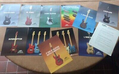 Vintage 1994 G&L guitars basses Info sheets...Great pics and info... Leo Fender