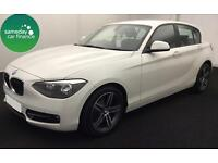 £218.85 PER MONTH WHITE 2012 BMW 116D 2.0 SPORT 5 DOOR DIESEL MANUAL *NAV*