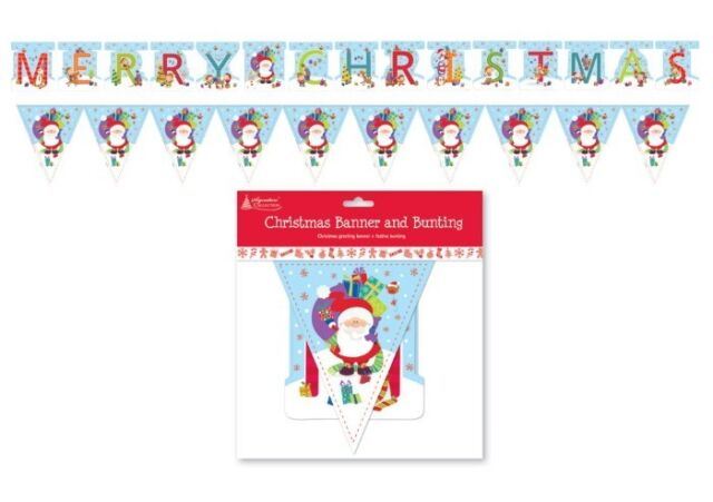 Christmas Banner & Bunting - Pack of 2 - New